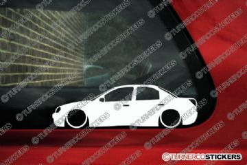 2x LOW Ford Mondeo mk2 sedan 4-door stanced car outline stickers